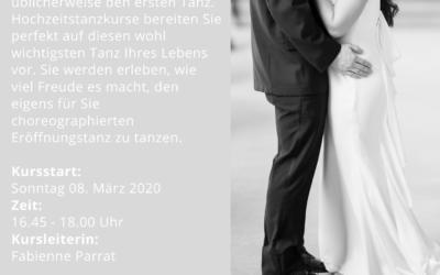 Hochzeits-Tanzkurs – 8. März – 05. April 2020